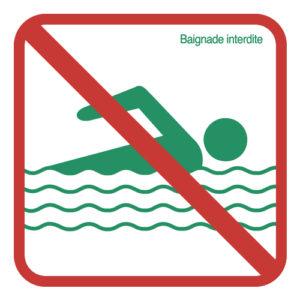 Règlement RNR Baignade interdite