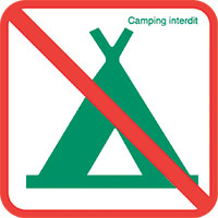 Règlement RNR Camping interdit