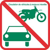 Règlement RNR Engin motorisé interdit