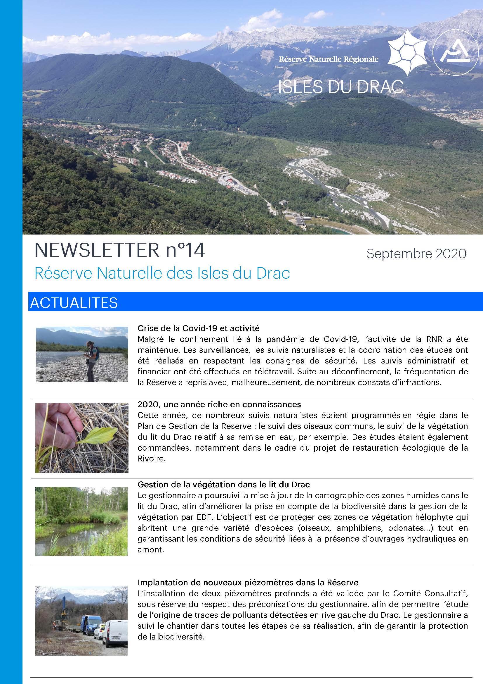 Newsletter 14 RNR Isles du Drac