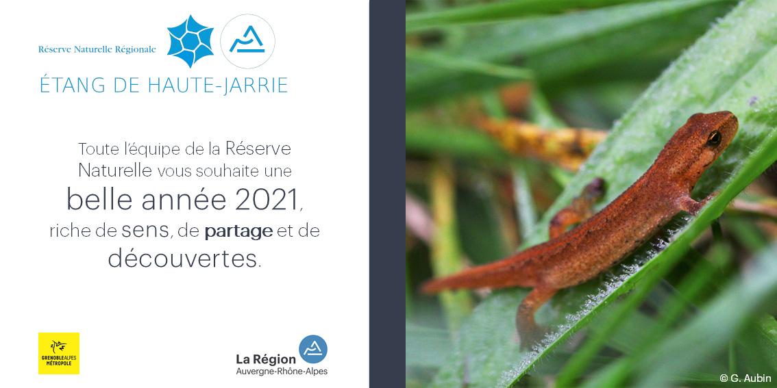 Voeux 2021 RNR Etang de Haute-Jarrie